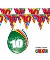 2x 10 jaar vlaggenlijn + ballonnen