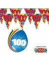 2x 100 jaar vlaggenlijn + ballonnen