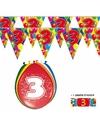 2x 3 jaar vlaggenlijn + ballonnen