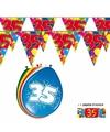 2x 35 jaar vlaggenlijn + ballonnen