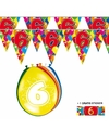 2x 6 jaar vlaggenlijn + ballonnen