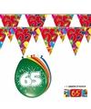 2x 65 jaar vlaggenlijn + ballonnen