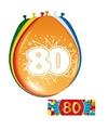 Versiering 80 jaar ballonnen 30 cm 16x + sticker